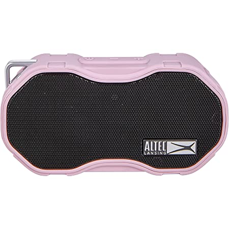 Altec Lansing Baby Boom XL Portable Bluetooth Speaker, Waterproof Portable Speaker with Deep Bass and Loud Sound, 100 Feet Bluetooth Range for Travel, Sports, Home, Parties Outdoors… (Pink)