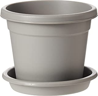 "Cosmoplast Plastic Round Flowerpot 6"" with Tray-P"