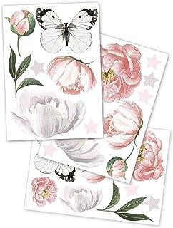 yabaduu Muursticker sticker 3 DIN A 4 vellen totaal 60x30cm aquarel dieren zelfklevend voor kinderkamer babykamer speelkam...