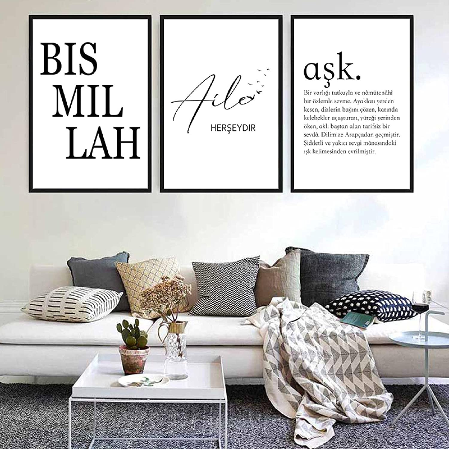 Sunsightly Print on Canvas Black Wall Indianapolis Mall Art Can Poster Choice White