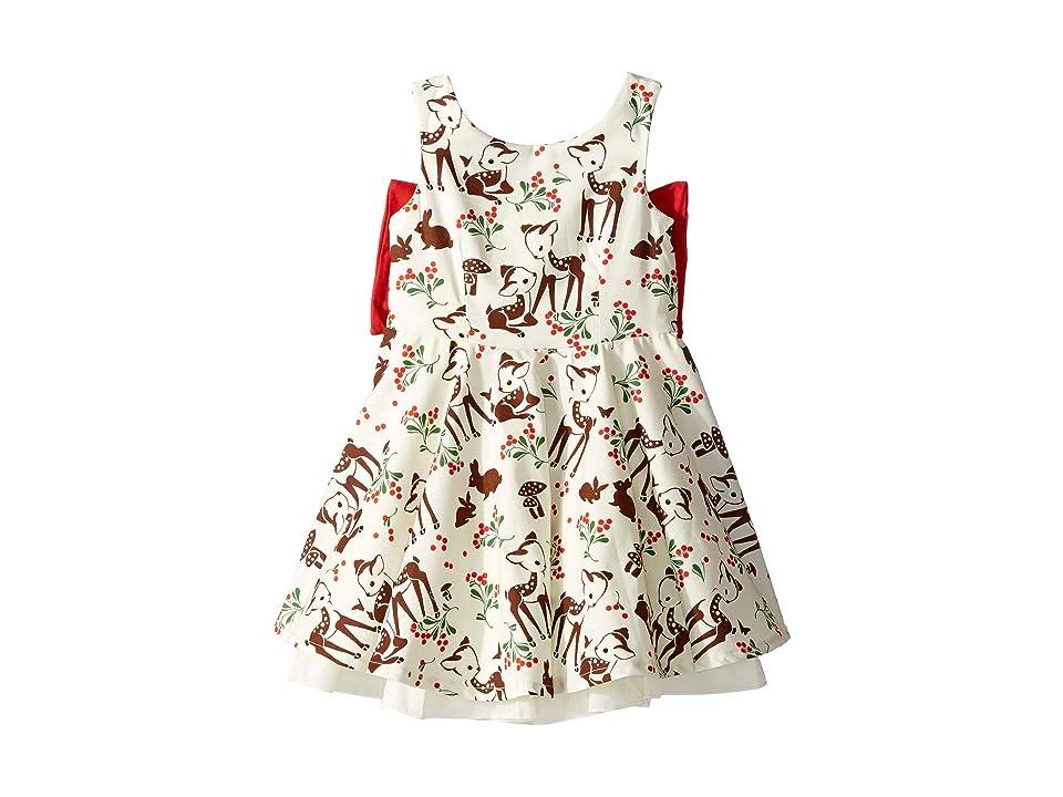 fiveloaves twofish Little Party Little Deer Dress (Toddler/Little Kids/Big Kids) (Red) Girl