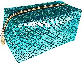 Bewaltz Mermaid Makeup Brushes bag Cosmetic Bag Makeup Bag Toiletry Travel Bag Handy Large Protable Wash Pouch Waterproof Zipper Handbag, Waterproof, Green