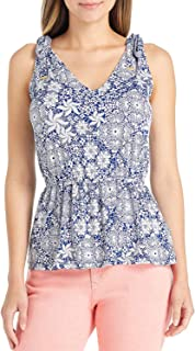 Michael Michael Kors Ladies Tie Shoulder Top Small S Twilight Blue