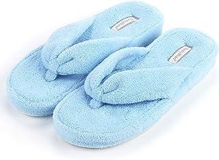 4ce01e994 KushyShoo Women Soft Cozy Cotton Anti-Slip House Slippers Knit Machine  Washable Home Flats