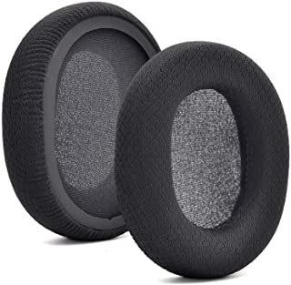 Replacement Black Fabric Ear Pads Cushion Earmuffs Compatible with SteelSeries Arctis 3 / Arctis 5 / Arctis 7 Arctis 9 / A...