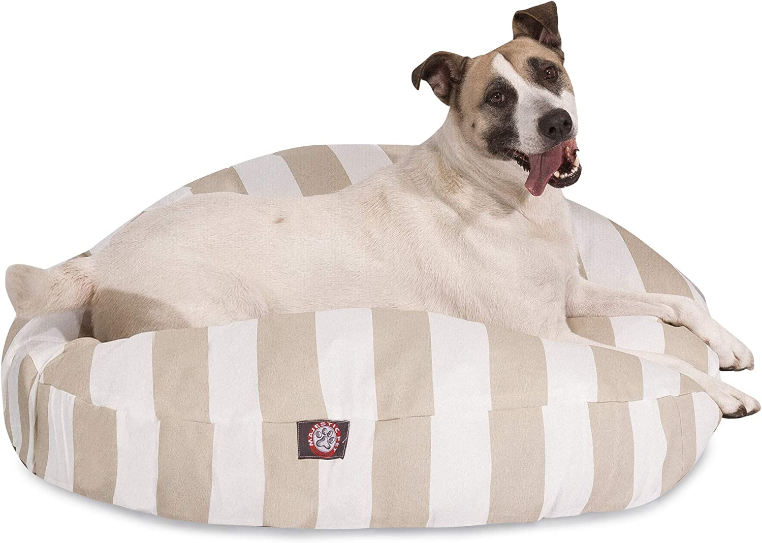 Majestic Pet greenical Stripe Sand Large Round Pet Bed