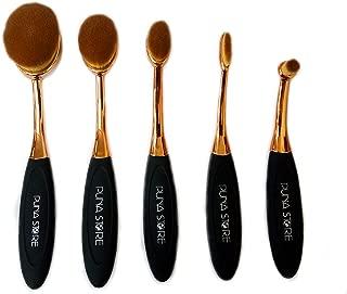 Puna Store® 5 Piece Oval Brush Set - Black + Gold