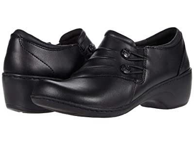 Clarks Channing Haley (Black Leather) Women