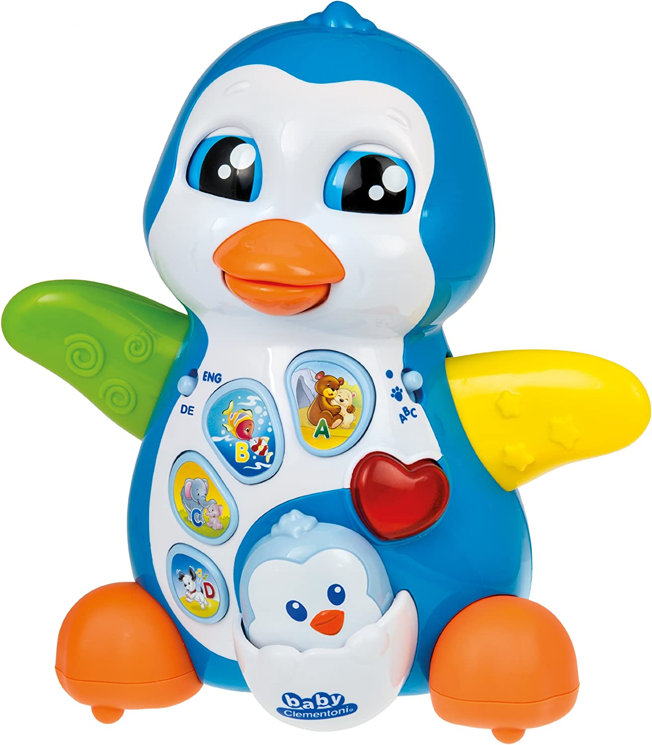 Clementoni 69286.6 Penguin Mummy with Puck Talking Electronic Educational Toy