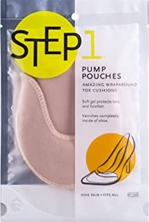 STEP 1 Pump Pouches Wraparound Toe Cushions, 1 Pair, Fits Heels, Ballet Flats, & More