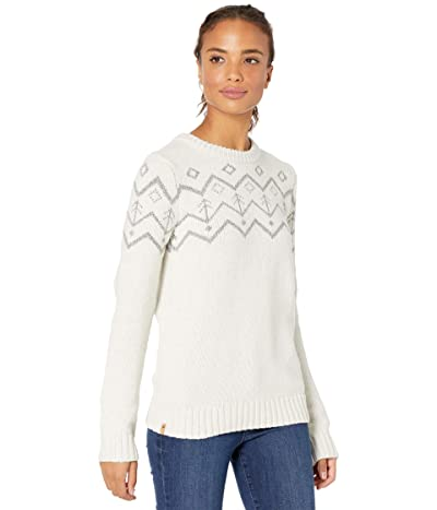 tentree Highline Wool Intarsia Sweater (Elm White Heather) Women