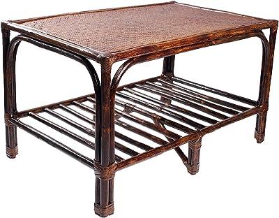 IRA Furniture Brown Coffee Table Made of Rattan & Wicker