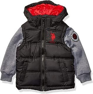 US Polo Association Boys' Toddler Bubble Jacket, Fleece...