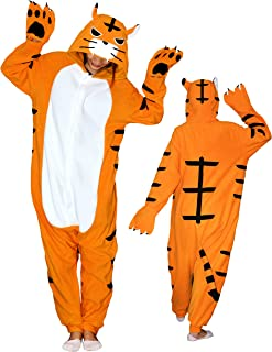 mens tiger onesie with hood
