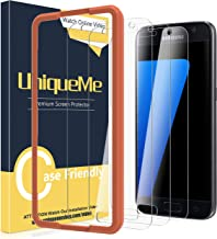 [3 Pack] UniqueMe Screen Protector for Samsung Galaxy S7 Tempered Glass,[Alignment Frame] Easy Installation HD-Clear Anti-Scratch Screen Protector