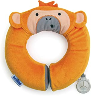 Trunki Kid's Travel Neck Pillow with Magnetic Child's Chin Support - Yondi Small Mylo Monkey (Orange)