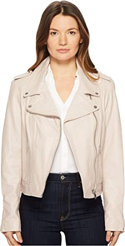 Donna Essential Leather Biker Jacket