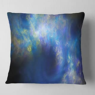 Designart Perfect Whirlwind Starry Sky' Abstract Throw Living Room, Sofa, Pillow Insert + Cushion Cover Printed On Both Si...