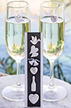 Wedding Wine Charms Magnetic Stemless