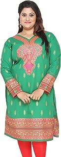 Plus Size Women's Dress Indian Tunics Kurti Long Top