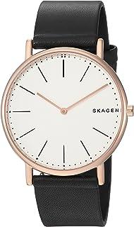 Skagen Men's Quartz Watch analog Display and Leather Strap, SKW6430