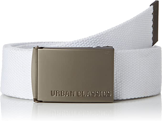 12416 opinioni per Urban Classics Canvas Belt Cintura con Fibbia Scorrevole in Metallo, Regolabile,