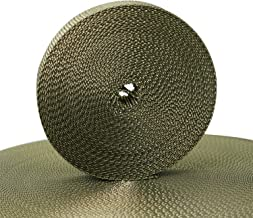 Devobunch 1 Inch Polypropylene Webbing, Heavy Duty Climbing Webbing Straps, Flat PP Fabric Strapping Roll Use for Dog Leas...