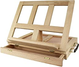 Greenco GRC2202 Beech-Wood Portable Art Desk Easel and Book Stand with drawer