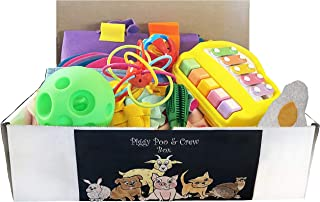 Piggy Poo and Crew Pig Box - $130 Value - Two Rooting Mats, Peanut Butter Stick, Large Treat Ball, Loop Toy, Rattle Ball, ...