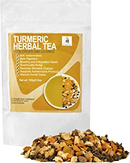 Sponsored Ad - Turmeric Tea with Ginger and Licorice Root. Anti Inflammatory Tea. Relief for Upset Tummy and Nausea, Diver...