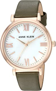 Anne Klein Womens AK/2962RGOL Swarovski Crystal Accented Rose gold-Tone and Olive Green