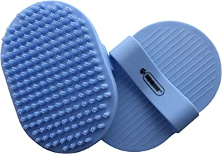 Pixikko Pet Curry Shampoo Brush/Comb for Bathing - Massaging - Deshedding - on Wet or Dry Hair 1-PC