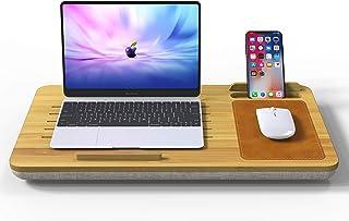 膝上テーブル デスクマット ラップトップマット 大型 ゲーミングマウスパッド 携帯電話スタンド オフィス/ホーム用デスクライティングマット ラップトップパソコンデスク 天然の竹から作られる