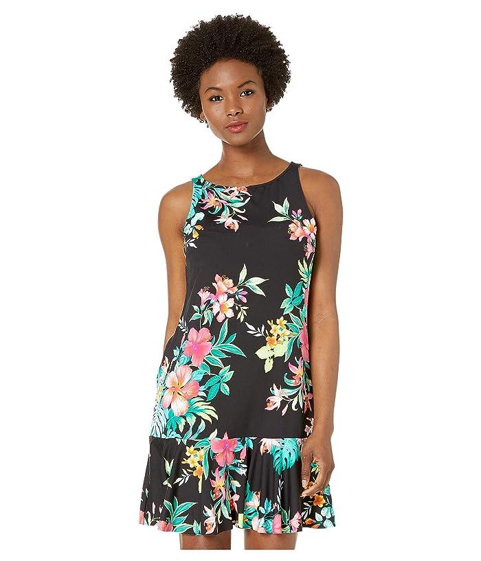 Tommy Bahama Fleur De Flora Hi N Spa Dress (Black) Women