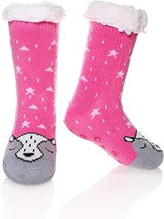 Kids Boy Girl Soft Thick Warm Animal Slipper Socks Winter Fleece Fuzzy Non-Skid Children Home Socks