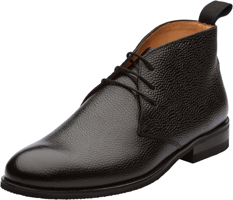 Dapper shoes Co. Men's Modern Classic Calfskin Leather Chukka Boots
