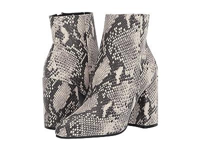 Steve Madden Therese Block Heel Bootie (Natural Snake) Women