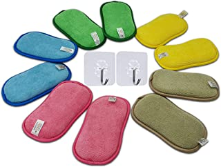 Onutis – Lot de 10 Éponges Microfibres Lavable et Réutilisable – Éponge Vaisselle et Multiusage – Écologique et Oeko Tex –...