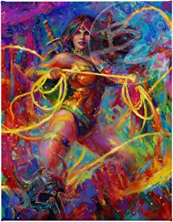 Blend Cota Wonder Woman Themyscira's Champion 11″ x 14″ Gallery Wrapped Canvas
