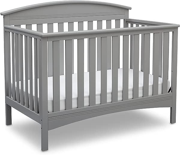 Delta Children Abby 4 In 1 Convertible Baby Crib Grey