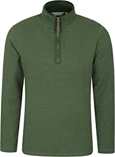 Mountain Warehouse Beta Mens Zip Neck Top - Half Zip Sweater, Warm Microfleece Lining, Lightweight - Ideal for Cold Weathe...