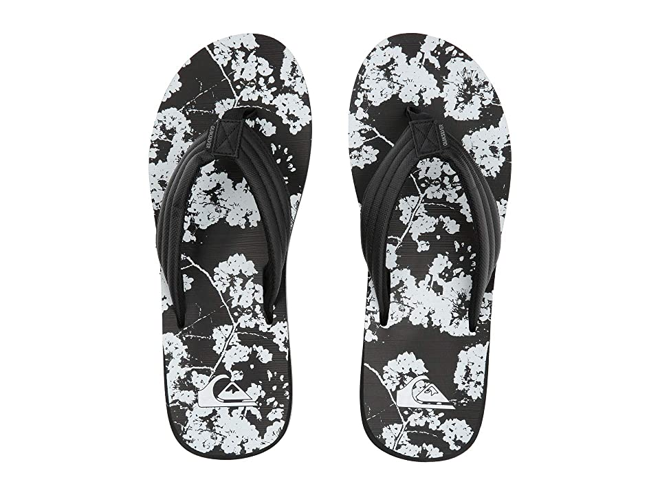 Quiksilver Carver Print (Black/Black/White) Men's Sandals