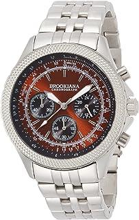 [ブルッキアーナ]BROOKIANA クロノグラフ 24時間計 腕時計 ブラウン×シルバーメタル BA2304-SBRMSV メンズ 腕時計