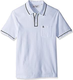 c19a0661c Original Penguin Men's Earl Pique Polo Shirt, Bright White/Dark Sapphire  Large