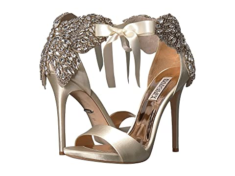 Badgley Mischka Hilda Ivory Satin Clearance Footlocker Finishline Cheap Purchase To Buy Discount Best Place qY1MeUSPR7