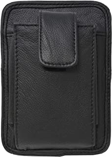 Garrison Grip Cowhide Leather OWB CCW Cell Phone Belt Pack up to Glock 43 Ruger LC9 and Smaller