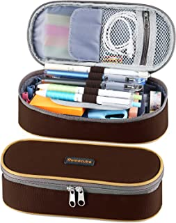 Homecube Pencil Case Big Capacity Pencil Bag Makeup Pouch Durable Students Stationery Pen Case with Double Zipper School &...