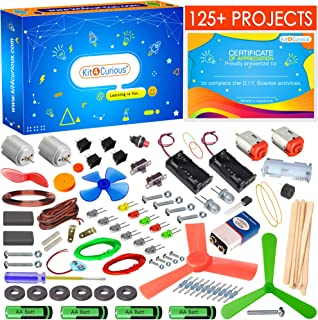 kit4curious 125 projects diy activity science electronics starter mega kit with user guide- Multi color