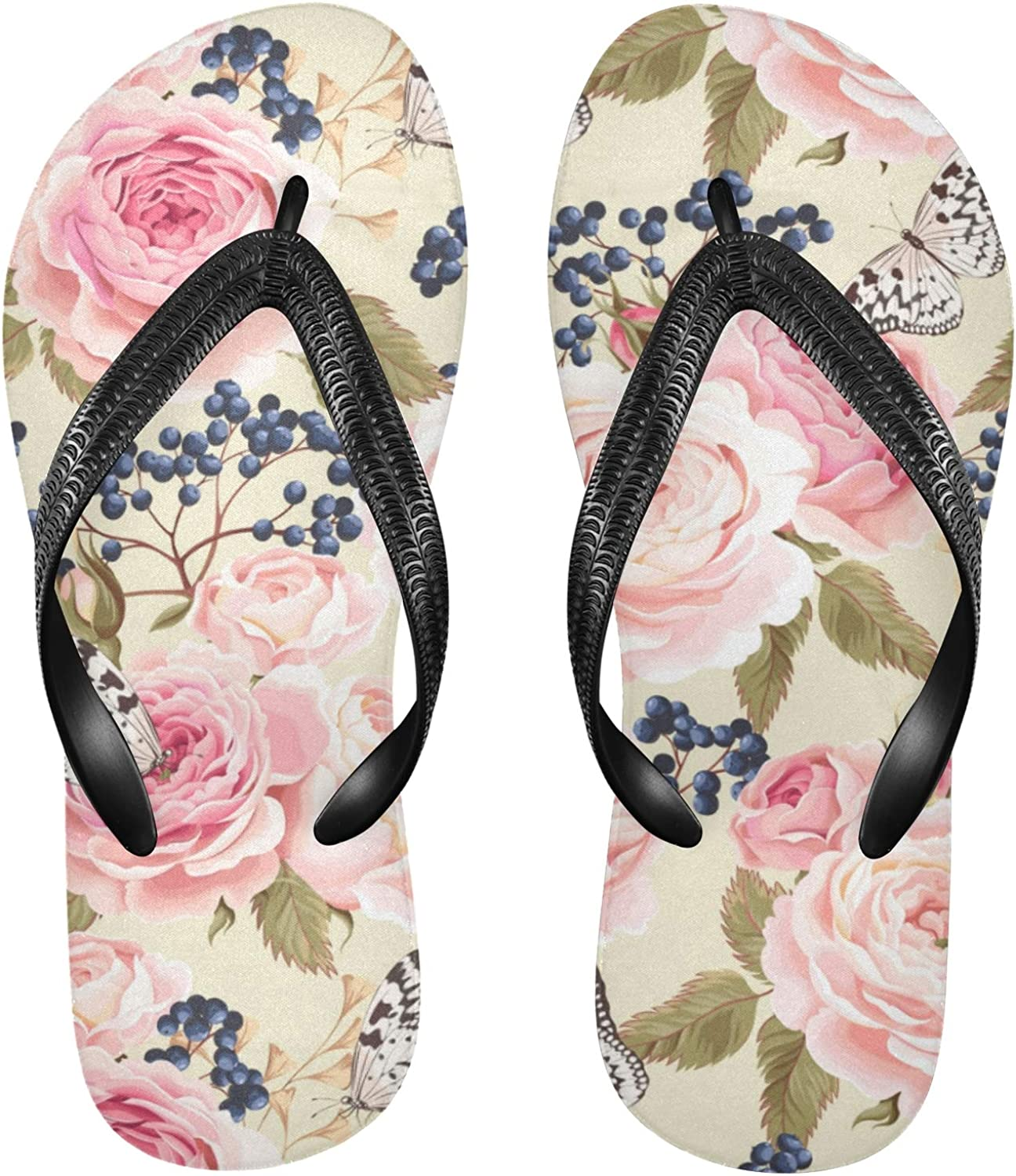 xigua Pink List price Floral Strawberry New Free Shipping Flip Flops S Men for Sandals Women