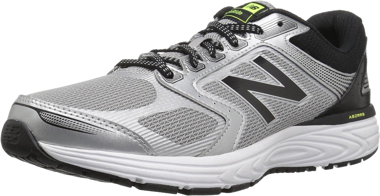 New Balance - Mens Cushioning M560C shoes, 8 UK - Width 4E, Silver Black